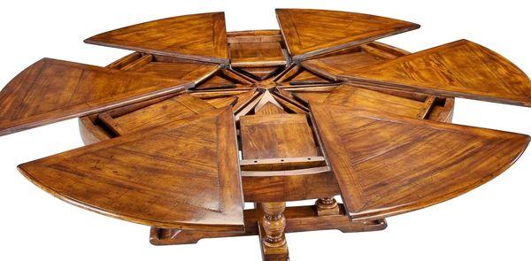 Jupe Dining Table Circular Walnut Large Adjustable
