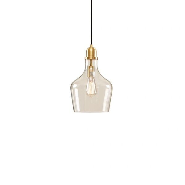 Pendant Lighting Glass Antique Gold Industrial