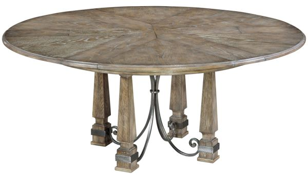 Jupe Dining Table Expands Grey Solid Oak