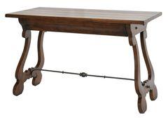 Desk Solid Walnut & Iron Classic Spanish