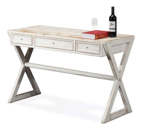 Kitchen Desk Reclaimed Pine White Wash
