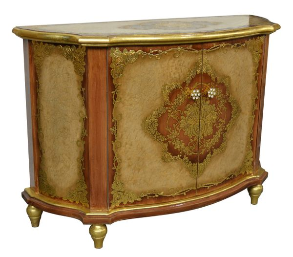 Cabinet French Antique Handmade Gold Leaf