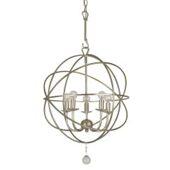 Orb Chandelier Solaris 5 Light Silver