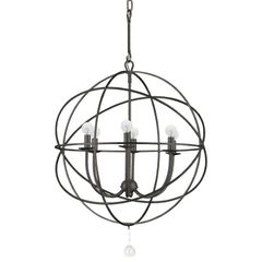 Orb Chandelier Indoor Outdoor Bronze