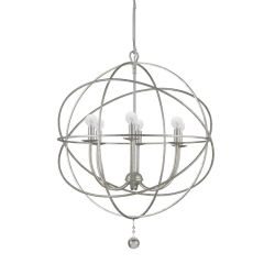 Orb Chandelier Indoor Outdoor Silver