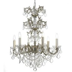 Chandelier Swarovski Baroque Silver Antique Finish