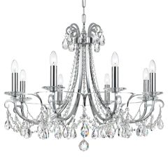Crystorama Chandelier Swarovski Othello Chrome