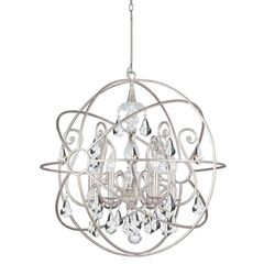 Crystorama 6 Light Orb Chandelier Swarovski Crystal