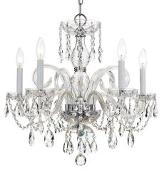 Swarovski Crystal Chandelier Traditional Lighting 5 Light
