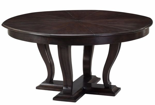 Large Jupe Dining Table Adjustable Wood