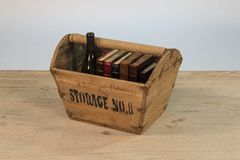 Vintage Wooden Basket Unique Storage