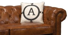 The A Pillow Leather and Linen Black