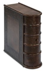 Storage Side Table looks like Book Leather Brown