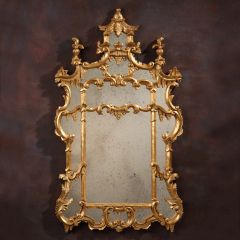 Chippendale Mirror Pagoda Carved Gold Leaf