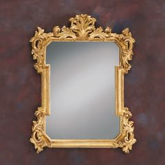 Acanthus Mirror Carved Gold Leaf
