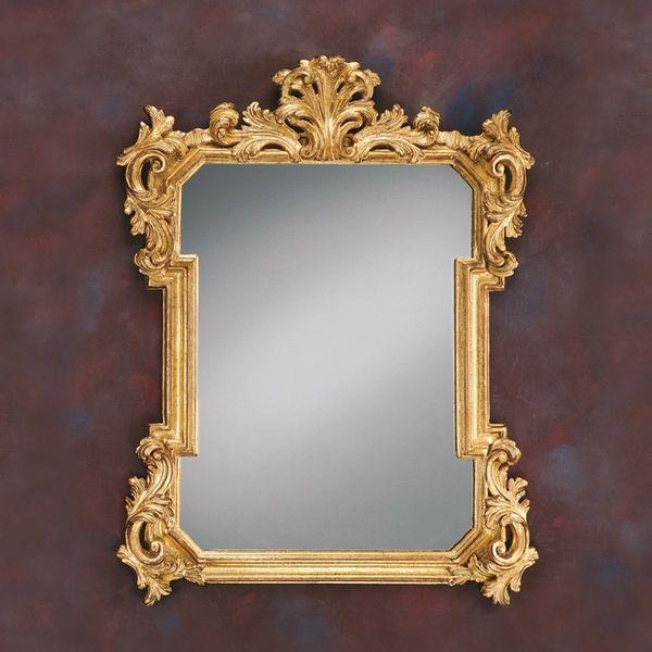 Acanthus Mirror Carved Gold Leaf