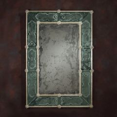 Rectangular Venetian Mirror Antique Green