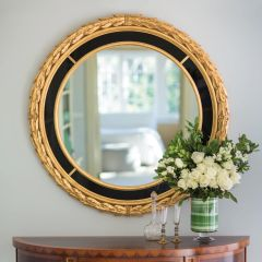 Italian Mirror Neoclassical Gold Leaf