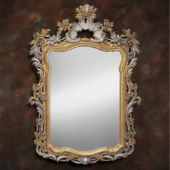 Venetian Wood Mirror Gold and Silver