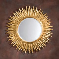 Sunburst Mirror Italian Gold Leaf