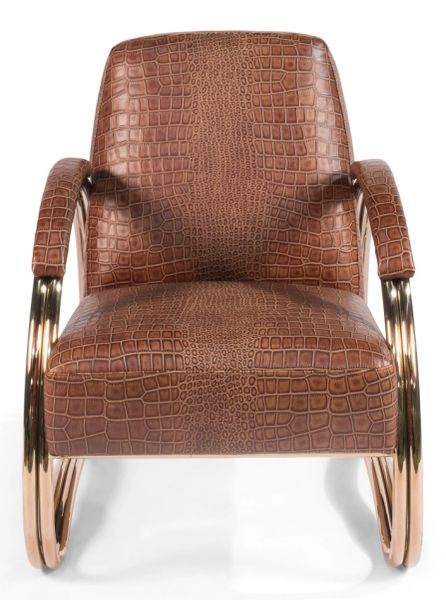 Miraculous Armchair Leather Stainless Steel Alligator Finish Andrewgaddart Wooden Chair Designs For Living Room Andrewgaddartcom
