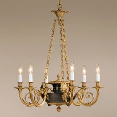 Solid Brass Chandelier Antiqued Bronze