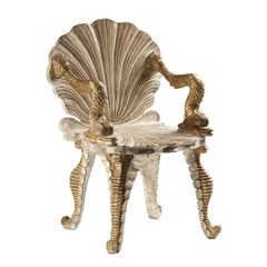 Venetian Grotto Armchair Hand Carved Ships Free
