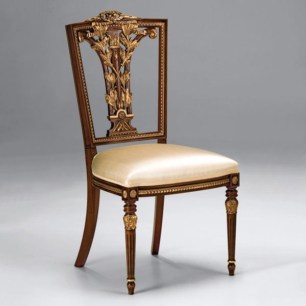 Hepplewhite Style Side Chair of Carved Beechwood Ships Free