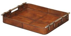 Safari Tray in Tobacco Leather