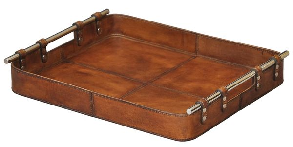 Safari Tray in Tobacco Leather