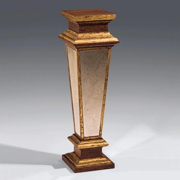 Empire Pedestal in Antiqued Goldleaf with Mirror Panels
