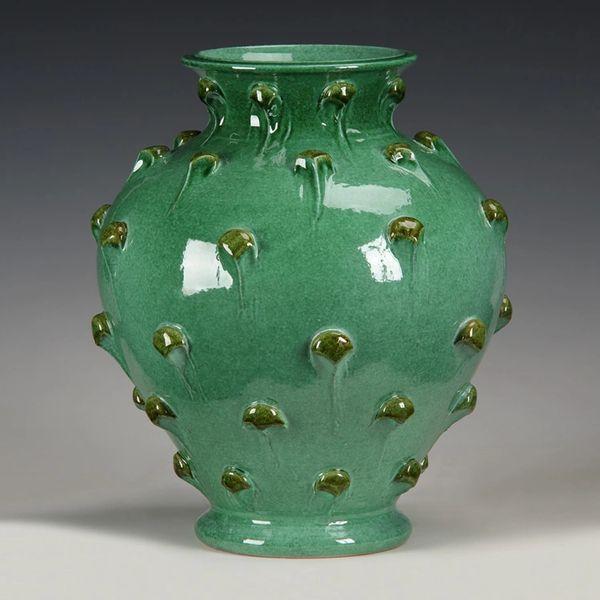 Dragonfruit Ceramic Vase Handmade in Italy