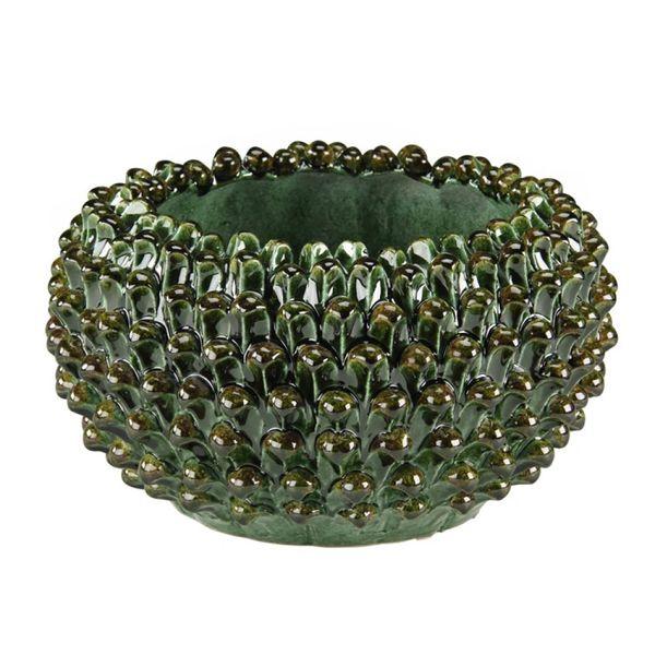 Ceramic Pine Cone Bowl Vase Handmade in Italy