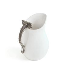 Alabama Ceramic Pitcher White Brushed Nickel