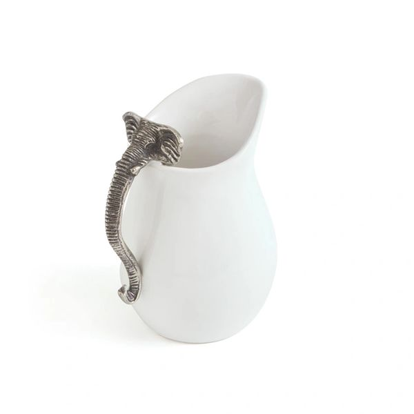 Alabama Ceramic Pitcher White Brushed Nickel