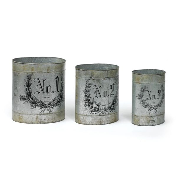 French Numbered Tins Set of Three