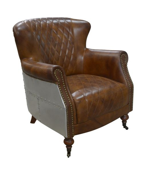 Quilted Leather Aluminium Chair