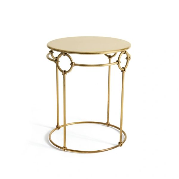 Brass Side Table Antiqued