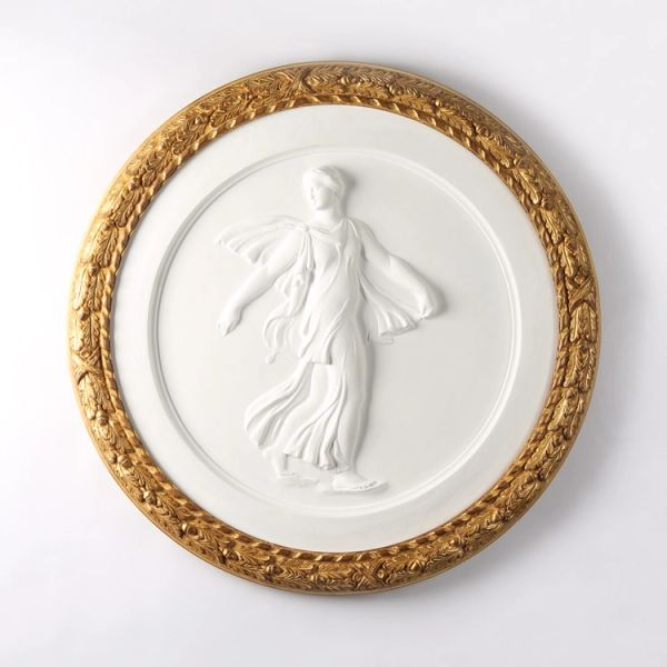 Venus Gypsum Medallion in Gold Frame