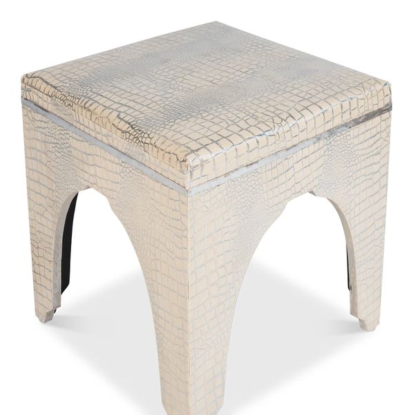 Crocodile Stool Leather Ottoman Cocktail Table