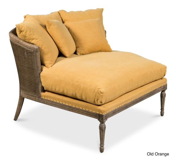 French Settee Upholstered with Cane Back