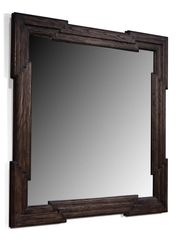 Greek Key Mirror Ash Wood Frame