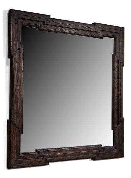 Greek Key Mirror Ash Wood Frame