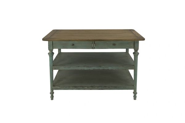 Lily Two Drawer Kitchen Island Console