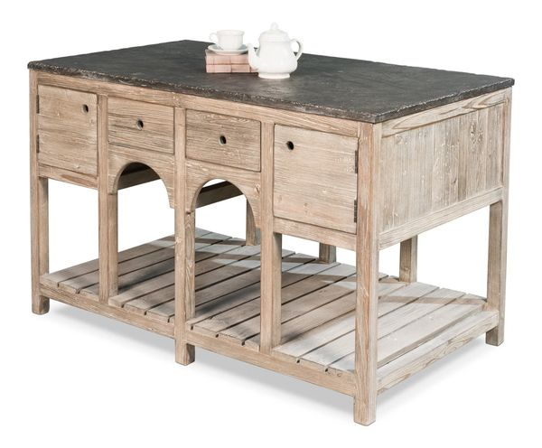 French Country Island Reclaimed Pine