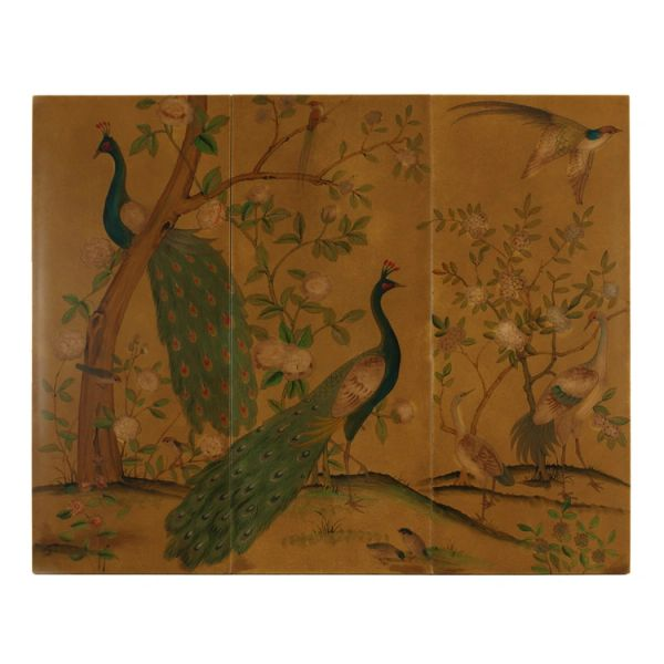 Peacock Wall Panels Set of 3 Chinoiserie