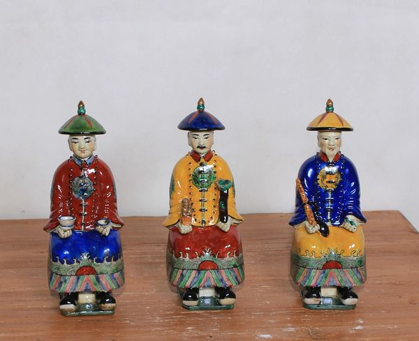 Porcelain Figurines Set of 3 Chinoiserie