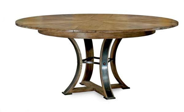 Jupe Dining Table Solid Oak Modern Rustic