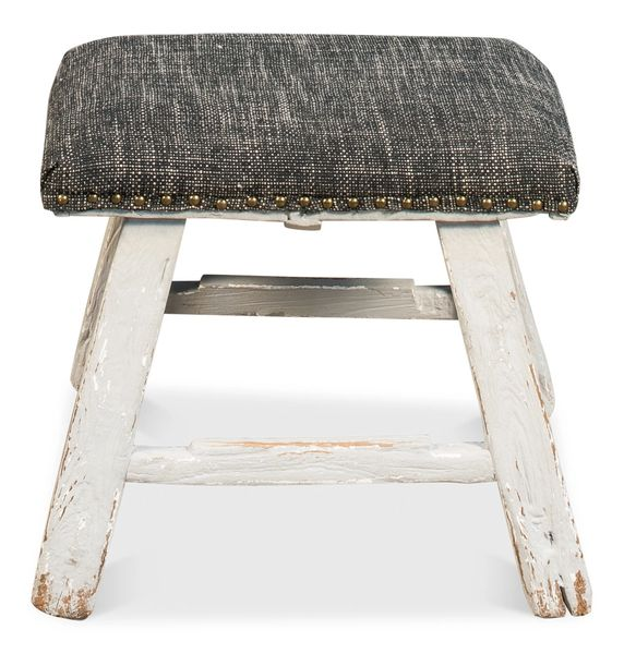 French Stool Rustic Antique Ottoman