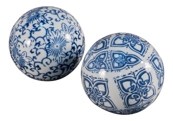 Ceramic Sphere Set of 30 Chinoiserie